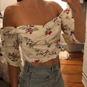 LUSH CROPPED blouse